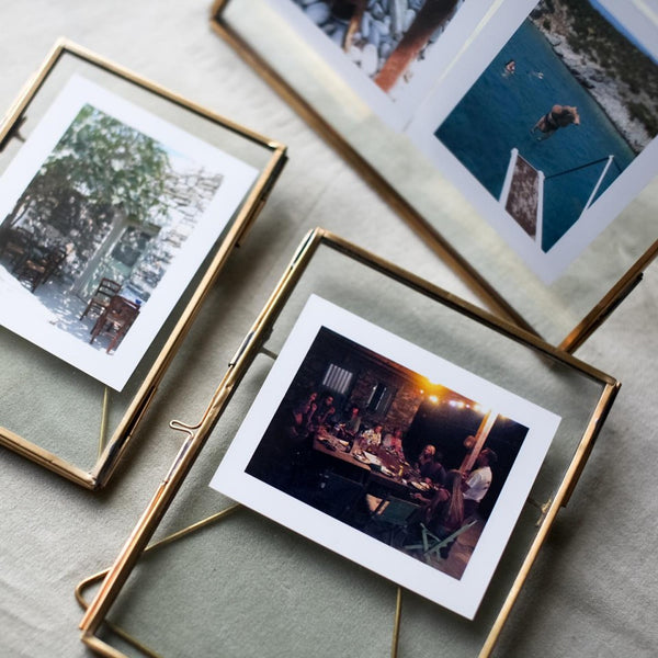Antique Brass Photo Frame