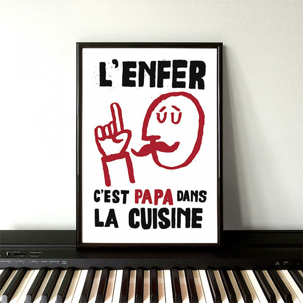 Retro French Poster Print