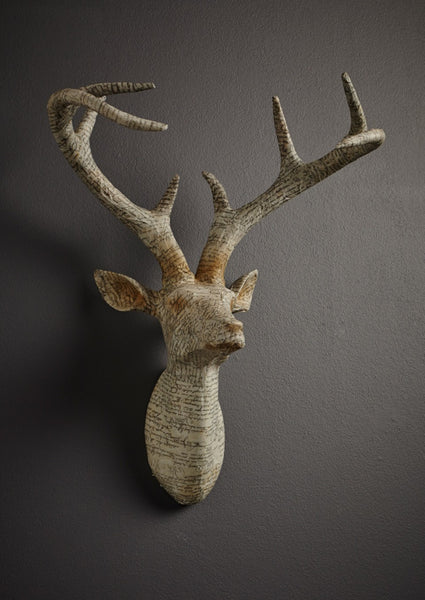 Wrapped Paper Stag Head