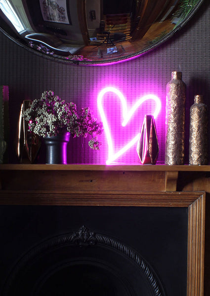 Pink Neon Heart LED Light