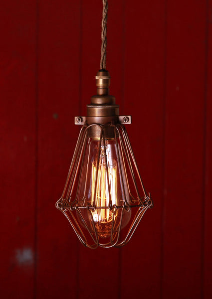 Praia Bronze Industrial Pendant Light