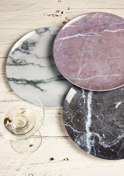 Marble Melamine Plates at Lime Lace Interiors