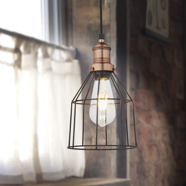 Simple Cage Pendant Light - Industville Lighting