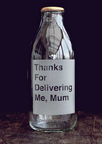 Etched milk Bottle for Mum