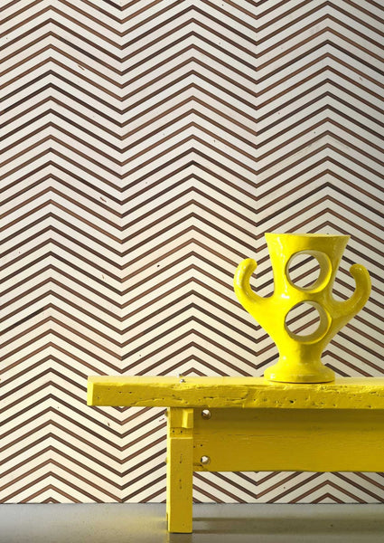 Timber Strips Wallpaper In Scrapwood On Teak Chevron By Piet Hein Eek @ NLXL
