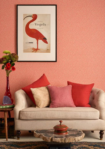 Vermicelli Wallpaper by Cole & Son. Living Coral colour inspiration