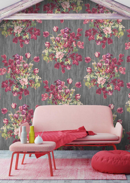 Watercolour Floral Wallpaper by Woodchip & Magnolia