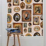 Portrait Gallery Wallpaper - Taupe - Graduate Collection