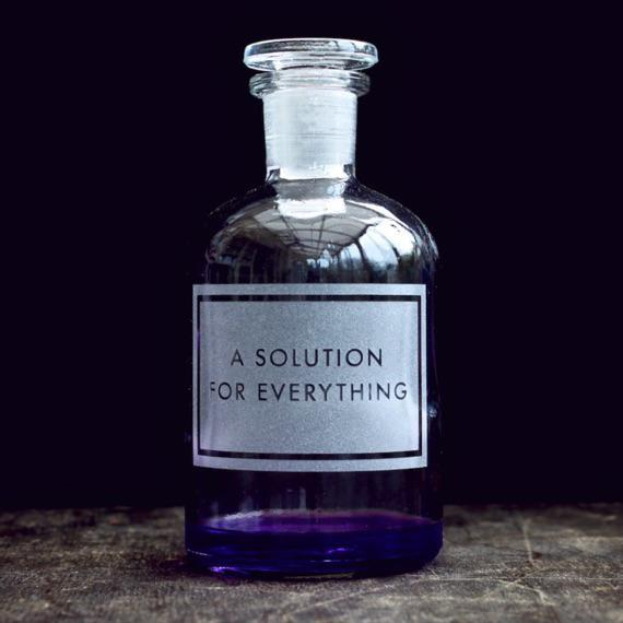 A Solution for Everything Etched Apothecary 250ml Bottle