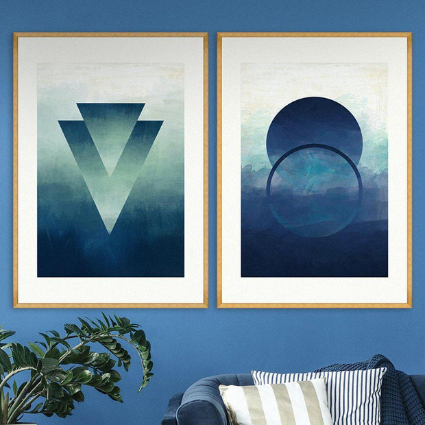 Abstract Ombre I Framed Wall Art - MINDTHEGAP-Lime Lace