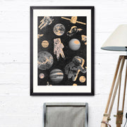 Astronauts Framed Wall Art - MINDTHEGAP-Lime Lace