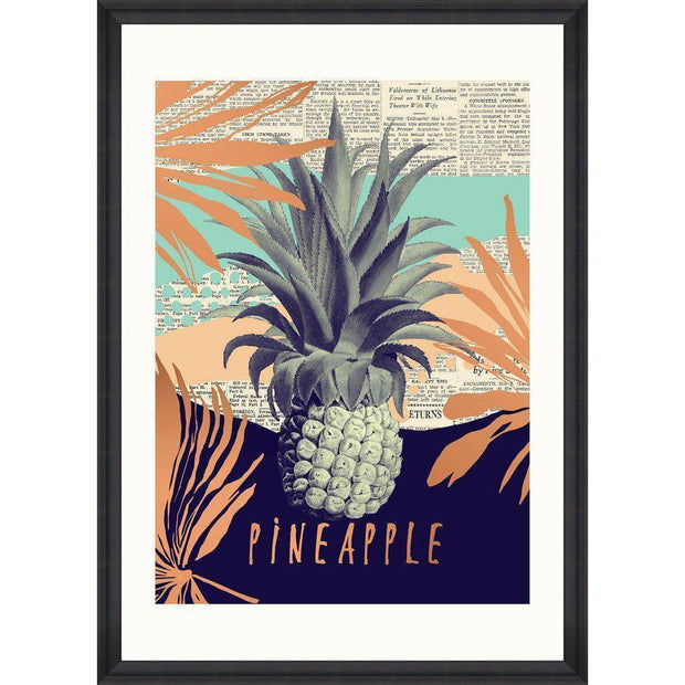 Be Pineapple Framed Wall Art - MINDTHEGAP-Lime Lace