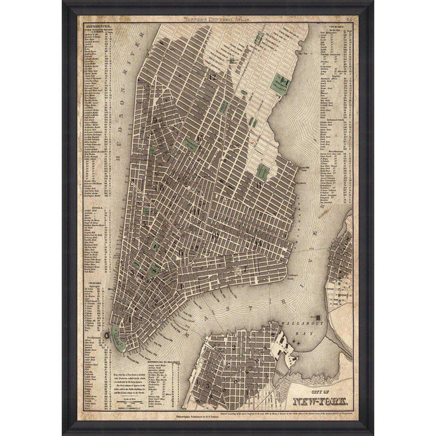 City of New York Framed Wall Art - MINDTHEGAP-Lime Lace