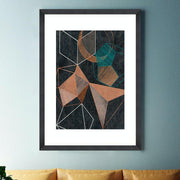 Copper Geometry Framed Wall Art - MINDTHEGAP-Lime Lace