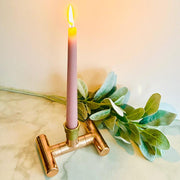 Copper Pipe Candle Holder-Lime Lace-Lime Lace