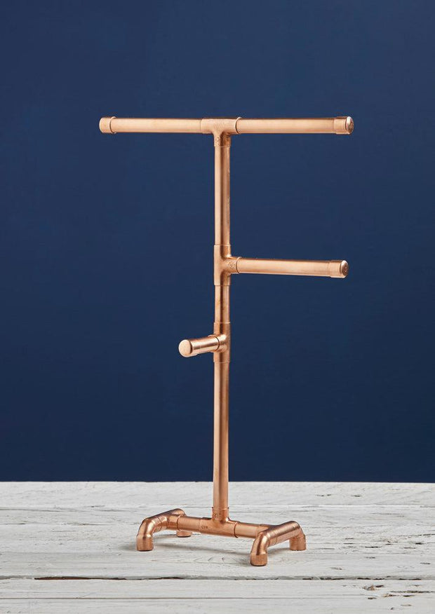 Copper Pipe Jewellery Stand