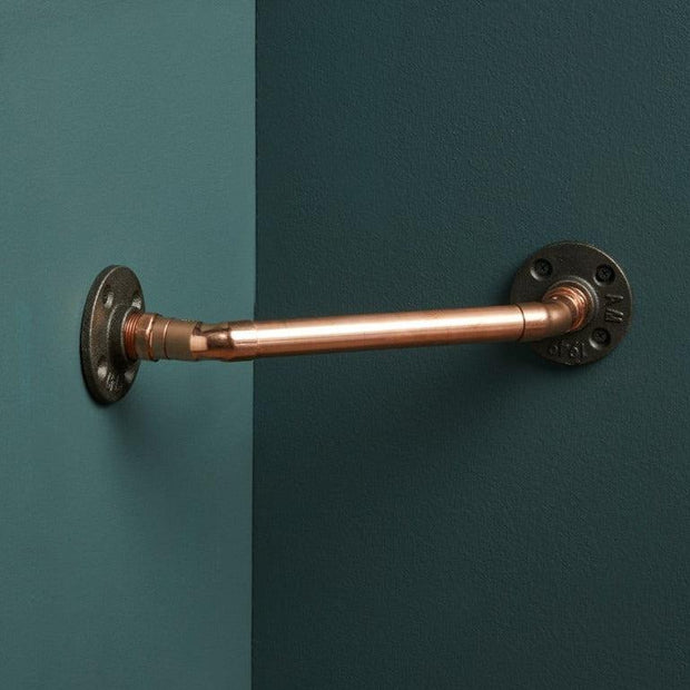 Corner Copper Pipe Towel Rail