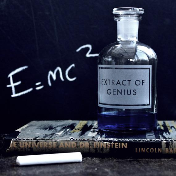 Extract of Genius Etched Apothecary Bottle