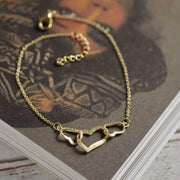 Gold Heart Bracelet-Lime Lace-Lime Lace