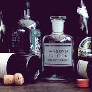 Hangover Solution Etched Bottle