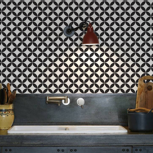 Circles Kitchen Wallpaper Splashback