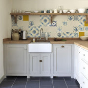 Kitchen Wall Wallpaper - Golden Age-Lime Lace
