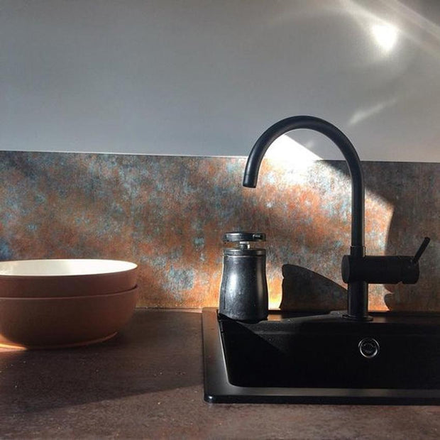 KitchenWalls Wallpaper Splashback - Bronze Copper-Lime Lace