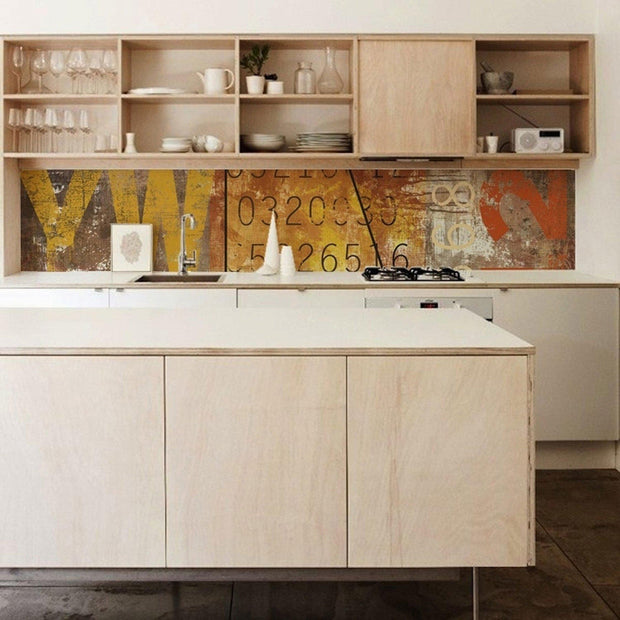 KitchenWalls Wallpaper Splashback - Fresco-Lime Lace