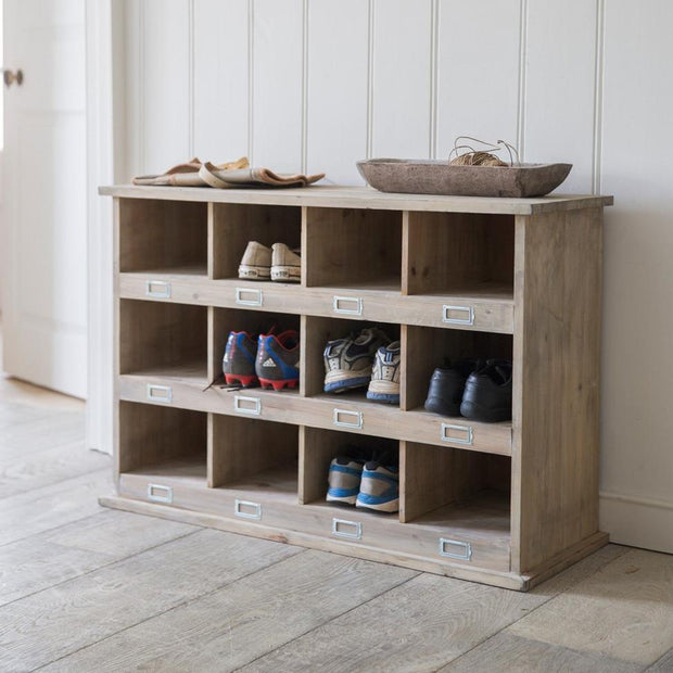 Large Fir Wood Shoe Storage Bench