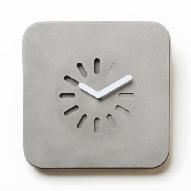 Life In Progress Clock by Lyon Beton-Lyon Béton-Lime Lace