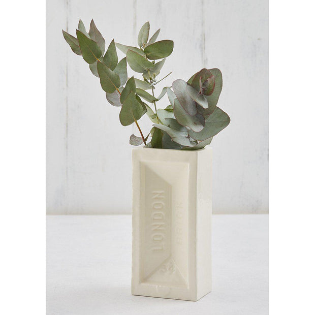 London Brick Vase - White
