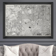 London Map Framed Wall Art - MINDTHEGAP-Lime Lace