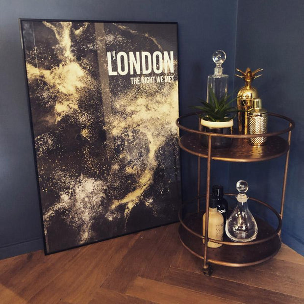 London Night Framed Print - Paradisco Productions-Lime Lace