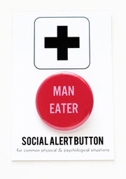 MAN EATER Badge