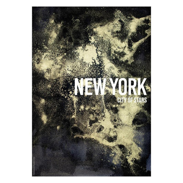 New York Night Framed Print - Paradisco Productions-Lime Lace