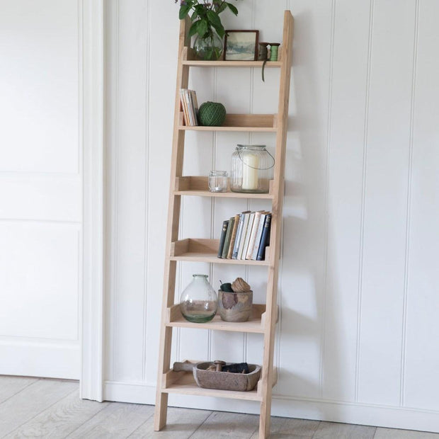 Oak Shelf Ladder - Small