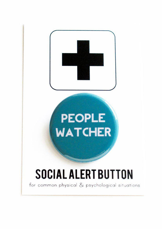 PEOPLE WATCHER Badge-Lime Lace-Lime Lace