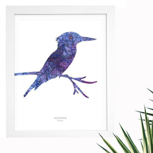 Personalised Vintage Kingfisher Map Print