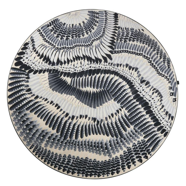 Prete-Moi Ta Plume - Round Rug - Christian Lacroix-Lime Lace