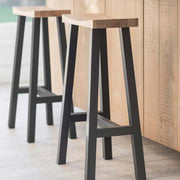 Rax Carbon Black Tall Stool-Lime Lace