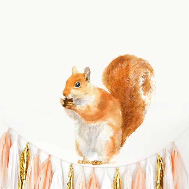 Red Squirrel Wall Sticker-Lime Lace-Lime Lace