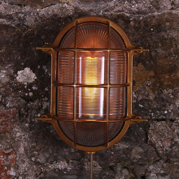 Ross Marine Nautical Bulkhead Wall Light - Mullan Lighting-Lime Lace