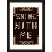 Swing With Me Framed Wall Art - MINDTHEGAP-Lime Lace