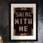 Swing With Me Framed Wall Art by MINDTHEGAP-MINDTHEGAP-Lime Lace