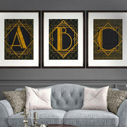 The A Framed Wall Art - MINDTHEGAP-Lime Lace