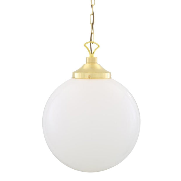 Yerevan 40cm Globe Pendant Light - Mullan Lighting-Lime Lace