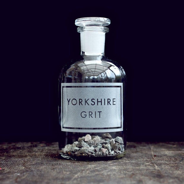Yorkshire Grit Etched Bottle-[vinegar & brown paper]-Lime Lace