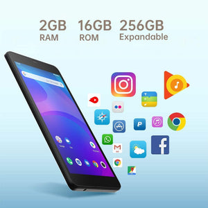 "ALLDOCUBE iPlay 7T Android 9.0 Dual 4G LTE Tablet (6.98"" 1280*720 IPS, 4-core Unisoc SC9832E CPU, 2 GB RAM, 16 GB ROM, 2.0MP & 0.3MP Camera, GPS)"
