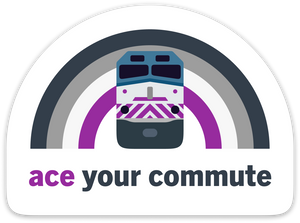 Ace Your Commute Sticker
