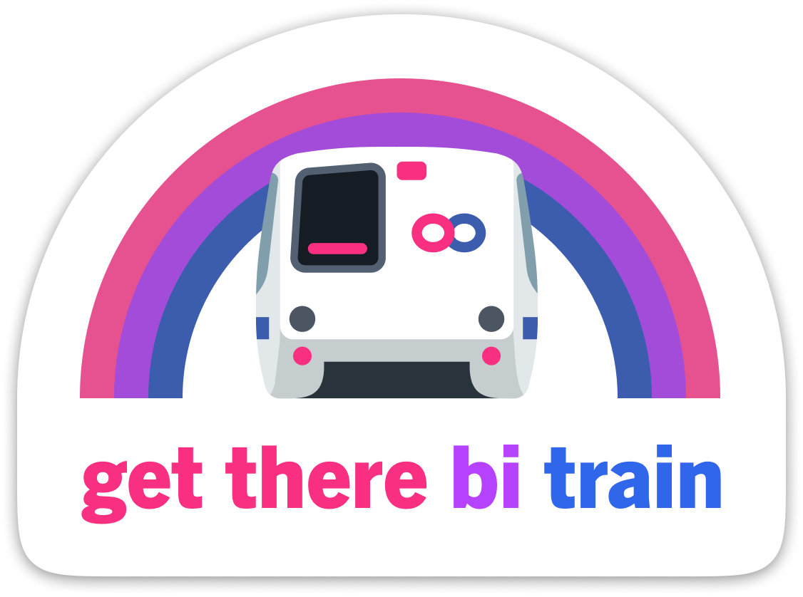 Get There Bi Train Sticker – BART